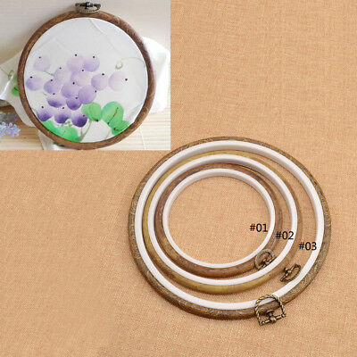 Plastic Cross Stitch Machine Embroidery Hoop Ring Frame DIY Sewing S M L 1pc