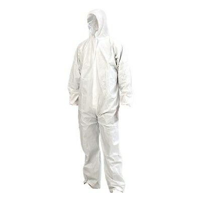 Disposable Coverall White SMS Type 5/6 Lightweight Breathable (CARTON OF 50)
