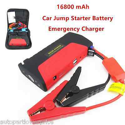 Emergency 16800mA Multi Function Car Charger Jump Starter Booster Battery SOSLED