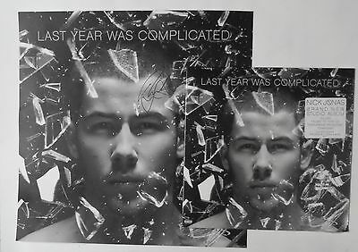Nick Jonas hand SIGNED Last Year Was Complicated Lithograph T-Shirt Bundle Sz L