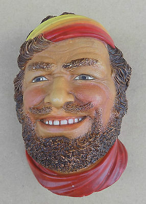 Vintage LEGEND PRODUCTS Chalkware Wall Hanging Head - Gypsy Man