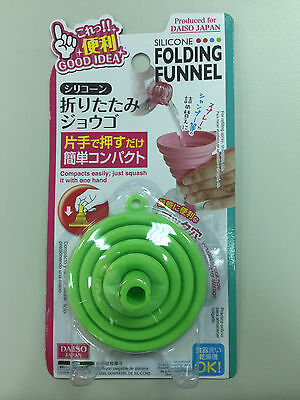 Daiso Japan Silicone Folding Funnel