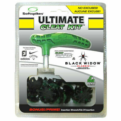SOFTSPIKES Ultimate cleat Kit - Cyclone Ice golf spikes with spike tool