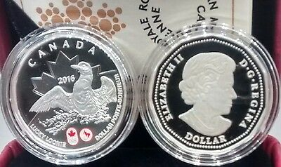 Lucky Loonie 2016 Canada Pure Silver $1 Dollar Coin RioBrazil Olympic Paralympic