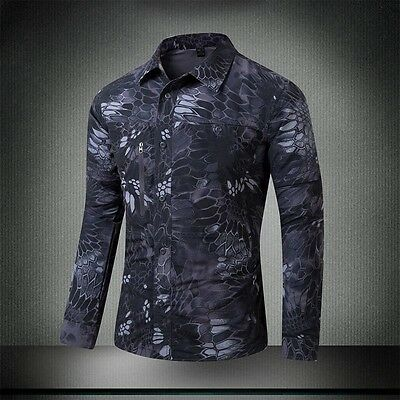 Men Outdoor Camouflage Shirt Hunting Paintball Quick drying Shirt SWAT Military