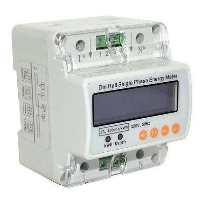 GHDS100E Single Phase Energy Meter Digital Meters U/I/P/F/PF/Q/S Measurement