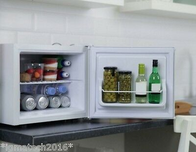 17 Litre White Cooler Fridge Mini Freezer Home Bar Kitchen Camping Stand Alone