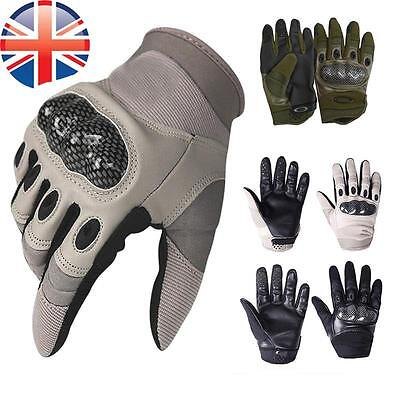 *UK Seller* Paintball Airsoft Full Finger Cycling Military Armoured Gloves
