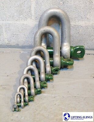 Heavy Duty Green Pin Alloy Dee Lifting Shackles 0.33ton to 55ton - 4x4 Recovery