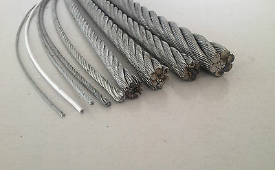 Galvanised Steel Metal Wire Rope Cable Heavy Duty 1.5, 2, 3, 4, 5, 6, 8, 10mm +