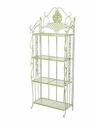 Garden shelf  iron wrought iron furniture 175cm antique green 13kg