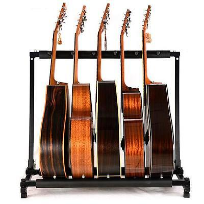 Chord 5-Way Multi Guitar Stand Foldable Acoustic Electric Bass Guitar Rack
