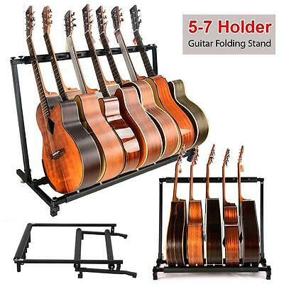 Multi-Guitar Rack Stand : Fits 5 or 7 Acoustic, Electric or Bass Guitars