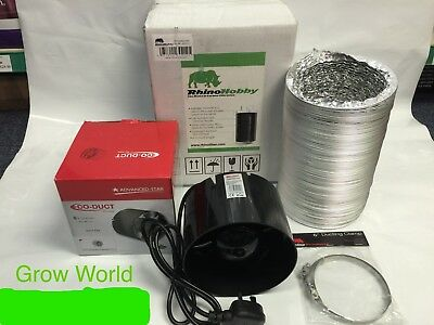 "Fan & Filter Extraction Kit Rhino Hobby Carbon Filter 4 5 6 "" Inch Hydroponics"