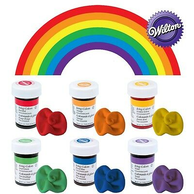 Wilton Concentrated Gel Paste Rainbow Cupcake/Cake Colours 6x 28g Set Kit