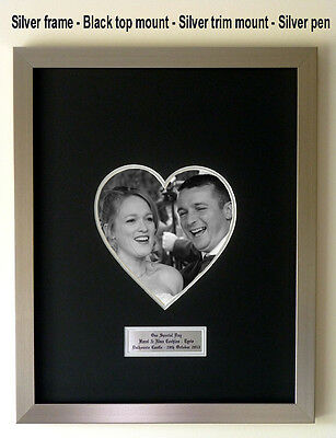 LARGE Personalised 'HEART' Wedding/Special occasion Guest Book Signing Frame
