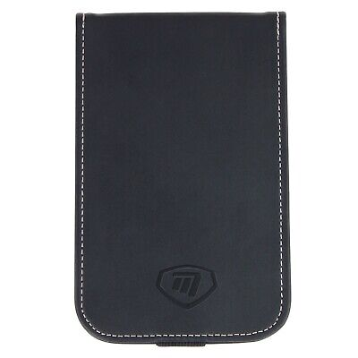 Masters Golf - Deluxe Leather Black Score Card Holder + Pencil Holder