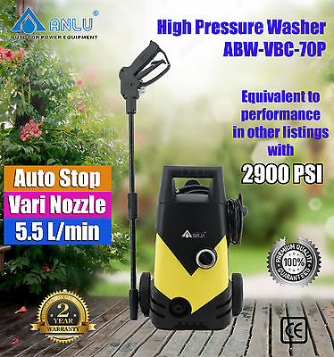 ANLU 105 BAR Electric High Pressure Water Cleaner Washer ABW-VBC-70P