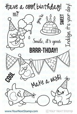 Your Next Stamp - Clear Photopolymer Stamps - Waddles - Happy Brrrr-thday
