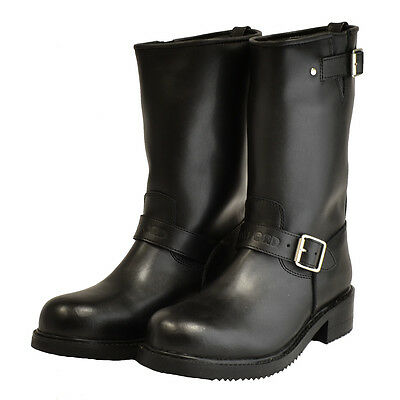 Oxford Apache Motorcycle Leather Custom Cruiser Waterproof Boots Blk CLEARANCE T
