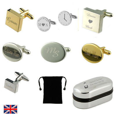 Engraved Wedding Cufflinks Groom You Me Father Dad of All the Walks Down Aise