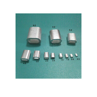 Aluminium Wire Rope Ferrules Crimping sleeves 0.5mm to 12mm