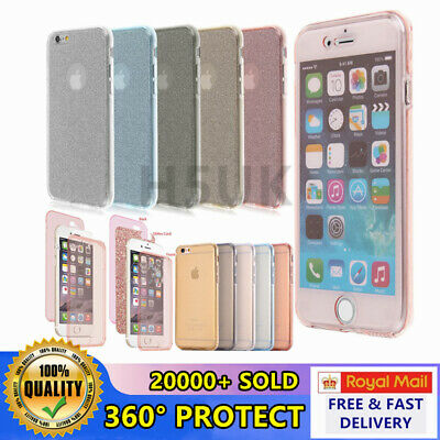A+ iphone Slim Shockproof 360° Front and Back Full Body TPU Silicon Case Cover
