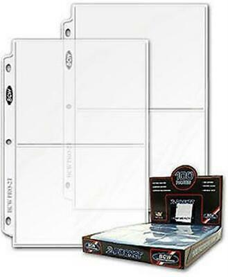 10 BCW Pro 2-Pocket 5 x 7 Photo Album Pages 5x7 3-ring clear binder sheets