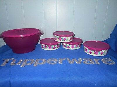 TUPPERWARE TROPICAL GLAMOUR SALAD SET~Great for Picnic~New