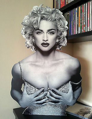 MADONNA CUT OUT Display Stand Standee Figure Limited NEW MDNA Erotica Vogue