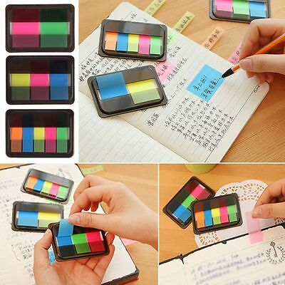 Creative Fluorescent Sticker Marker Bookmark Memo Notepad Sticky Notes