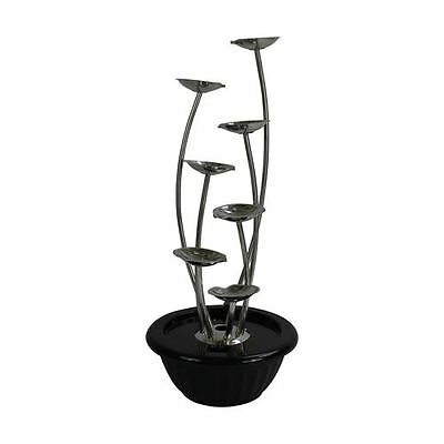 7 Pouring Petals Modern Stainless Steel Garden Water Feature