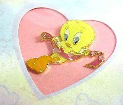 WB tweety bird Pin & Blank Greeting Card Warner Brothers Store Looney Tunes bros