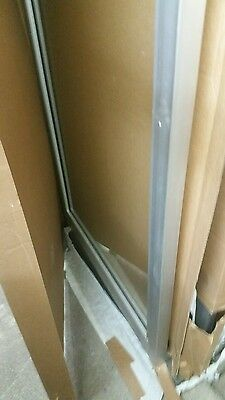 "Aluminum Storefront Entry Door And Frame ( New In Box With 1/4"" Glass )"