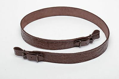 Genuine Leather Shotgun Rife Sling - Nice Embossed Design