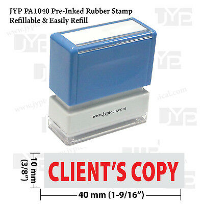 "JYP PA1040 Rectangle Stock Pre-Inked Rubber Stamp with ""Client's Copy """