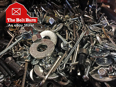 5 Lbs - Assorted Miscellaneous Bolts Screws Nuts Washers Pins Anchors + More