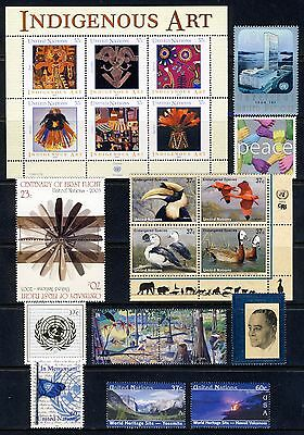 UN . NEW YORK . 2003 Year Set . 15 Stamps & 1 Sheet . Mint Never Hinged
