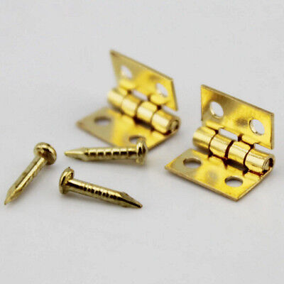 Mini Metal 20pcs Furniture Hot Hinges Dollhouse 1/12 with Miniature Nails For