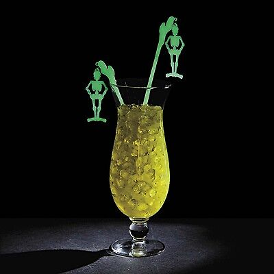 12 Glow in Dark SKELETON STIR STICKS Wedding Party Decoration Halloween Birthday