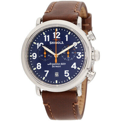 Shinola The Runwell Quartz Movement Blue Dial Men's Watch S0100117