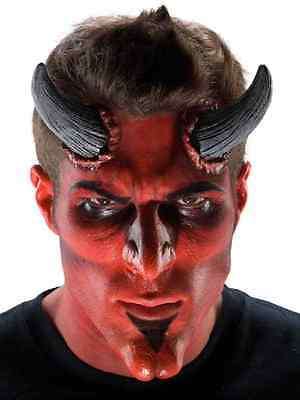 Large Devil Horns Demon Fancy Dress Halloween Costume Makeup Latex Prosthetic
