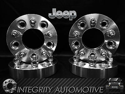 "4 Wheel Adapters 5X4.5 To 5X5.5 1.25"" Adapts Jeep Cj Wheels On Tj Yj Kk Sj Xj Mj"