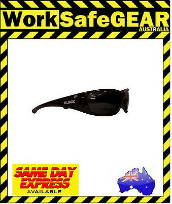 Bandit III Hijack Polarised Safety Glasses Eye Protection Specs Black Frame