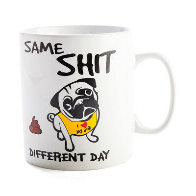Same Shit Different Day Coffee Mug - novelty ceramic tea cup gift funny gift