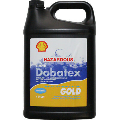 Shell NEW 4L Dobatex Gold Detergent Motorbike ATV Car 4 Litre Cleaning Solution