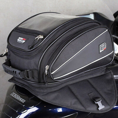 MotoDry NEW Motorcycle Luggage Adventure Touring ZXT-2 Black 14L Tank Bag Pack