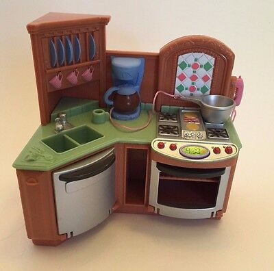 Fisher Price Loving Family Furniture Kitchen Oven Lights Sounds