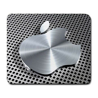 Hot New Aluminum Effect Apple Large Mousepad Mouse Pad free shipping