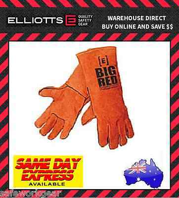 Elliot BIG RED Welding Gloves Industrial Safety Protection Durable Leather Eliot